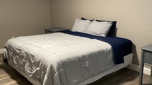 Down comforters, pillowtop beds, desk, iron/ironing board