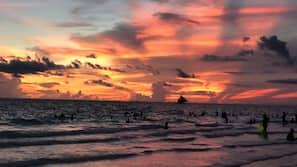 해변에 위치, 백사장, 스쿠버다이빙, 스노클링