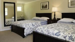 Premium bedding, desk, iron/ironing board, cribs/infant beds
