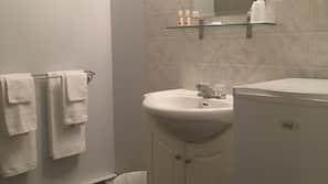 Free toiletries, hair dryer