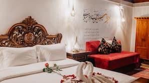 Premium bedding, in-room safe, soundproofing, rollaway beds