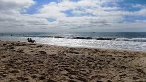 Na praia