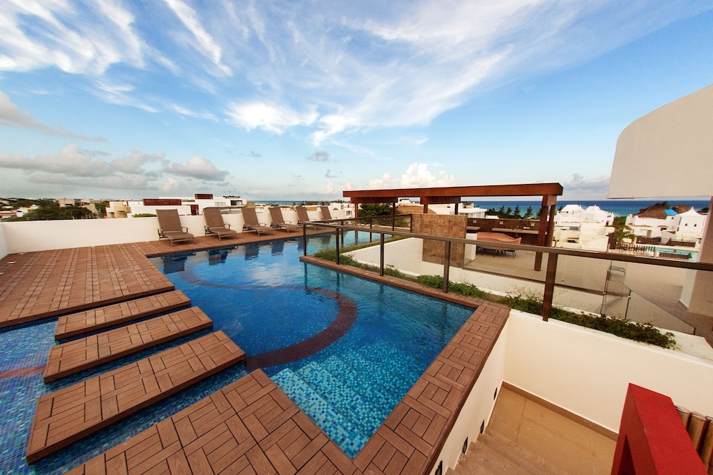Teamoplaya klem residence riviera maya mexique for Hotel nice piscine sur le toit