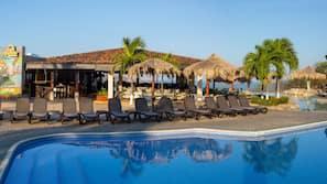 2 outdoor pools, free pool cabanas