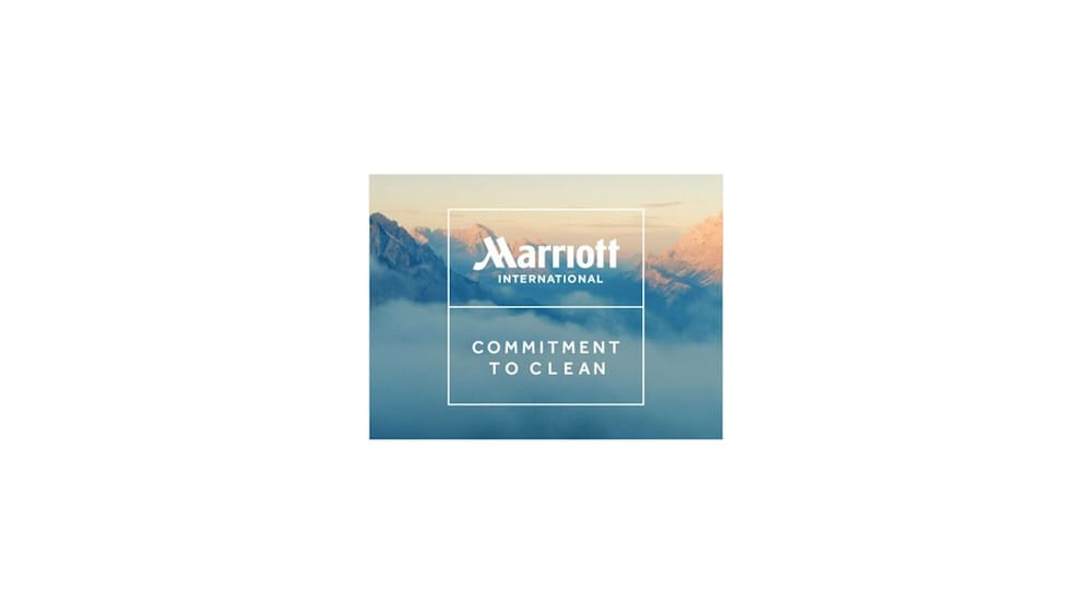 Cleanliness badge, AC Hotel by Marriott Cincinnati at Liberty Center