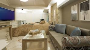 迷你吧、設計每間自成一格、家具佈置各有特色、書桌