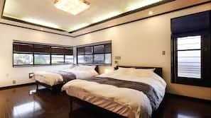 4 bedrooms, premium bedding, down comforters, in-room safe