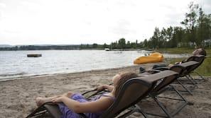 Private beach, kayaking, fishing