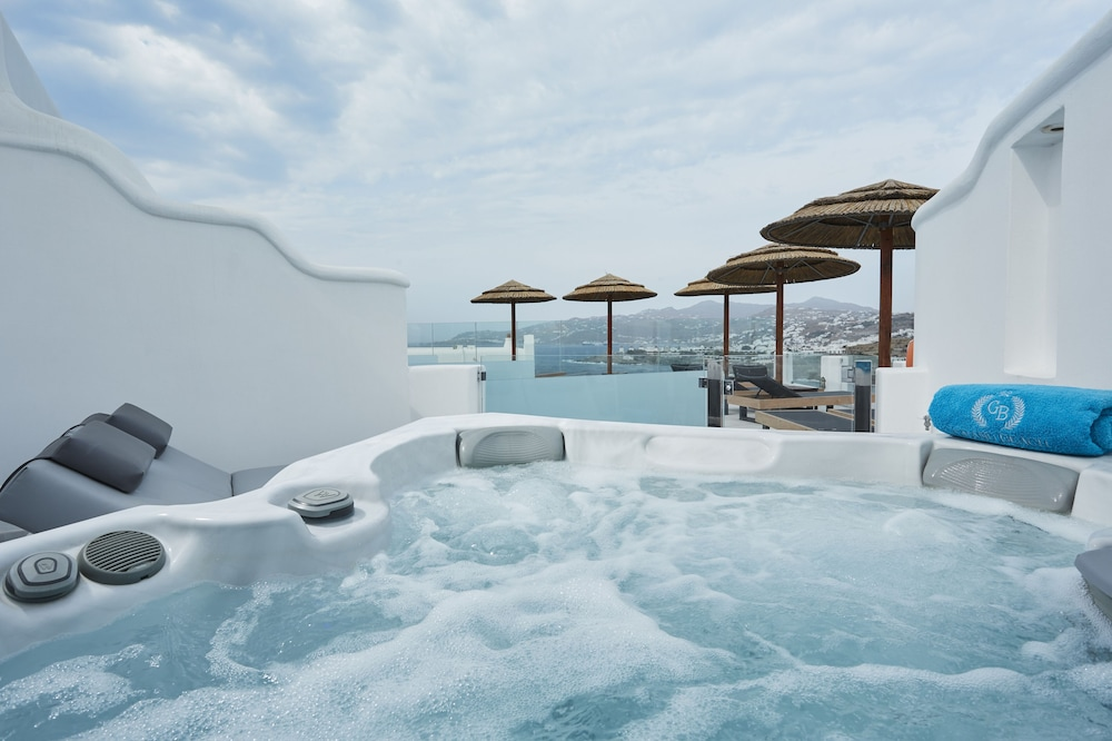 Private Spa Tub, Grand Beach Mykonos