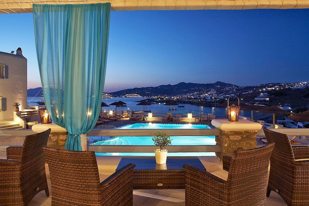 View from Property, Grand Beach Mykonos