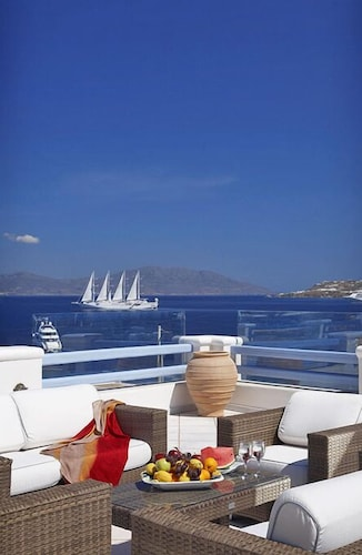 Terrace/Patio, Grand Beach Mykonos