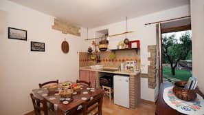 Fridge, microwave, espresso maker