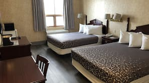Blackout curtains, rollaway beds, free WiFi