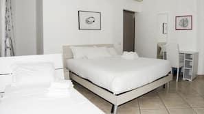 Premium bedding, down comforters, memory foam beds, desk
