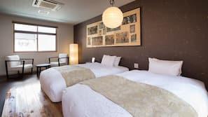 2 間臥室、高級寢具、羽絨被、特厚豪華床墊