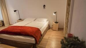 2 chambres, literie de qualité supérieure, fer et planche à repasser