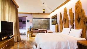 羽絨被、家具佈置各有特色、窗簾、隔音