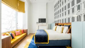 Luxe beddengoed, een strijkplank/strijkijzer, gratis wifi, beddengoed