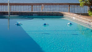 Outdoor pool, open 7:30 AM to 8:30 PM, sun loungers