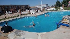 Seasonal outdoor pool, open 6 AM to 10:30 PM, sun loungers