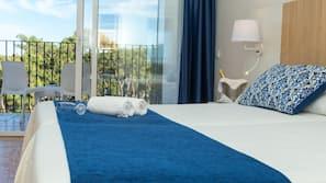 Caja fuerte, cortinas opacas, ropa de cama y acceso en silla de ruedas