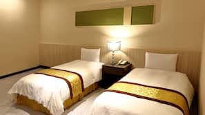 Desk, blackout drapes, free WiFi, bed sheets