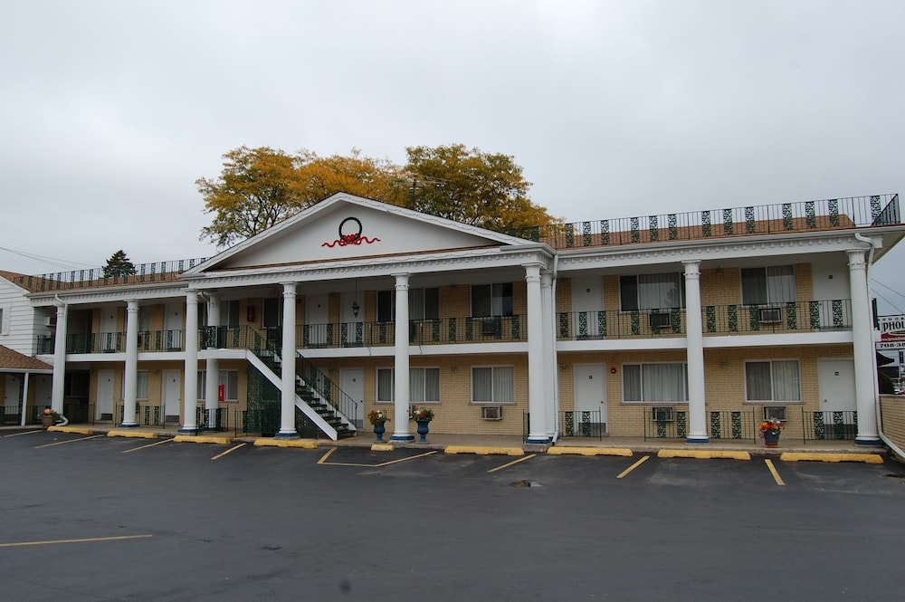 Exterior detail, Colony Motel