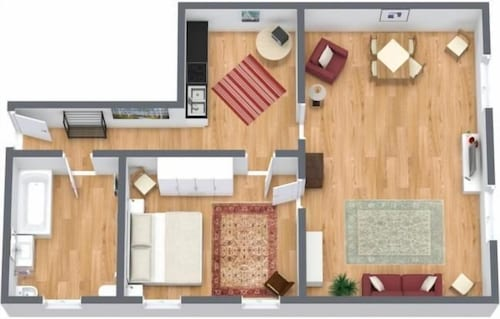 Floor plan, San Simeon Apartments