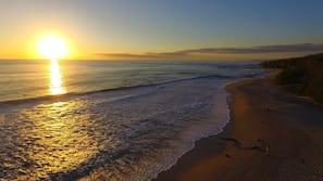 På stranden och strandbar