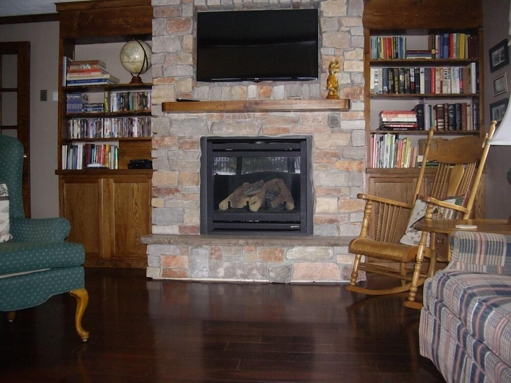 Fireplace, Borchers AuSable Bed & Breakfast