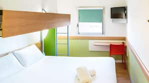 Desk, free cots/infant beds, free WiFi, bed sheets