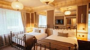Premium bedding, down duvets, Select Comfort beds
