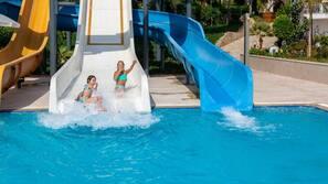 Indoor pool, 2 outdoor pools, open 7:30 AM to 6:30 PM, pool umbrellas