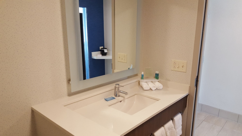 Bathroom, Holiday Inn Express & Suites Oswego, an IHG Hotel