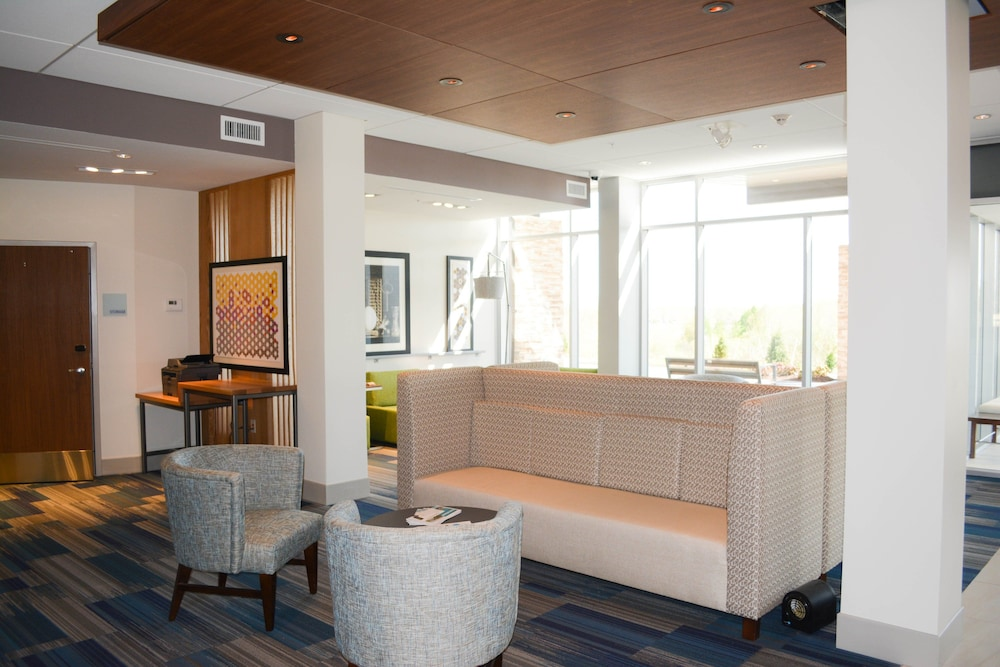 Lobby, Holiday Inn Express & Suites Oswego, an IHG Hotel