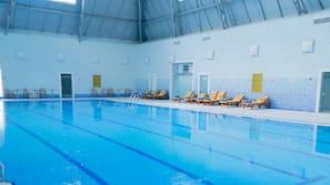 Indoor pool, an aquatic center