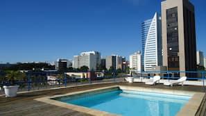 Piscina externa, piscina no terraço