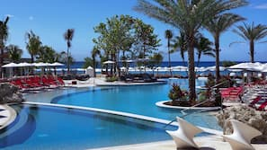 2 outdoor pools, pool cabanas (surcharge), pool umbrellas