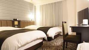 高級寢具、書桌、免費 Wi-Fi、床單