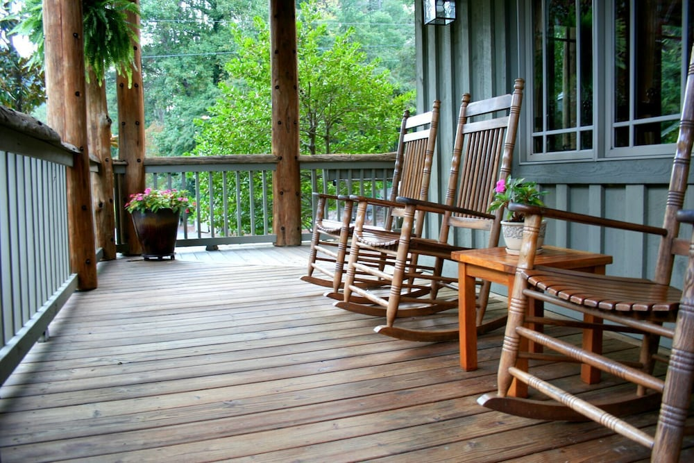 Porch, The Esmeralda Inn at Lake Lure