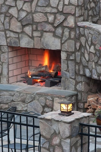 Fireplace, The Esmeralda Inn at Lake Lure