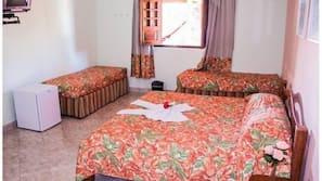 Frigobar, cofres nos quartos, camas extras/dobráveis (sobretaxa)