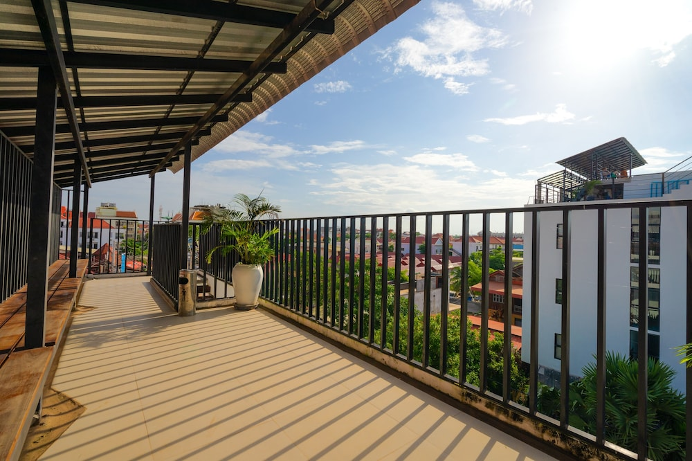 View from Property, Onederz Hostel Siem Reap