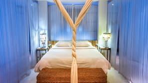 4 Schlafzimmer, hochwertige Bettwaren, Zimmersafe, Bügeleisen/Bügelbrett