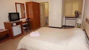 Desk, rollaway beds, free WiFi, wheelchair access