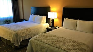 Premium bedding, desk, free cribs/infant beds, rollaway beds