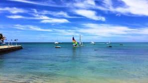 Private beach, white sand, scuba diving