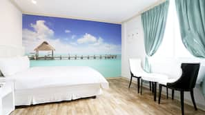 2 間臥室、高級寢具、書桌、免費 Wi-Fi