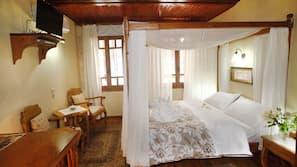Egyptian cotton sheets, premium bedding, down duvets, free minibar