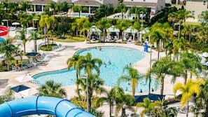 Outdoor pool, a heated pool, pool cabanas (surcharge), pool umbrellas